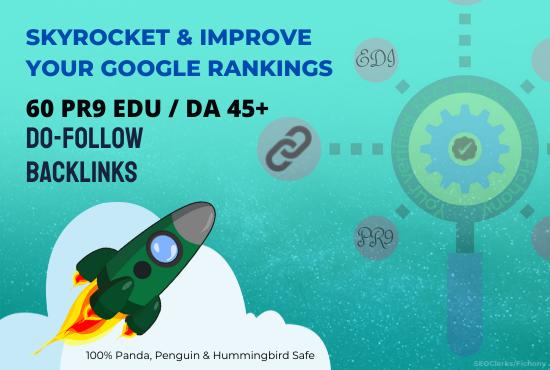 PR9 EDU Do Follow SEO Backlinks to Improve your Google Rankings