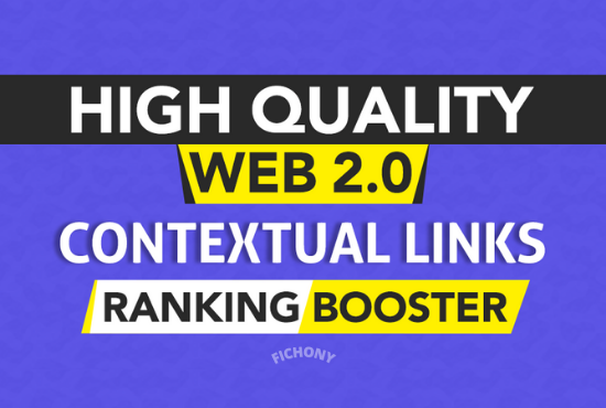 Skyrocket Your Ranking by 500 Authority Web 2.0 Contextual Backlinks