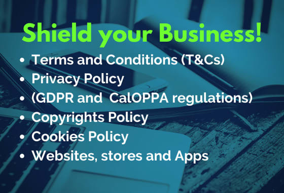 Write website terms and conditions and GDPR privacy policy