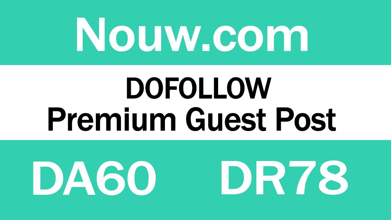 Publish Guest Post on popular website Nouw. com
