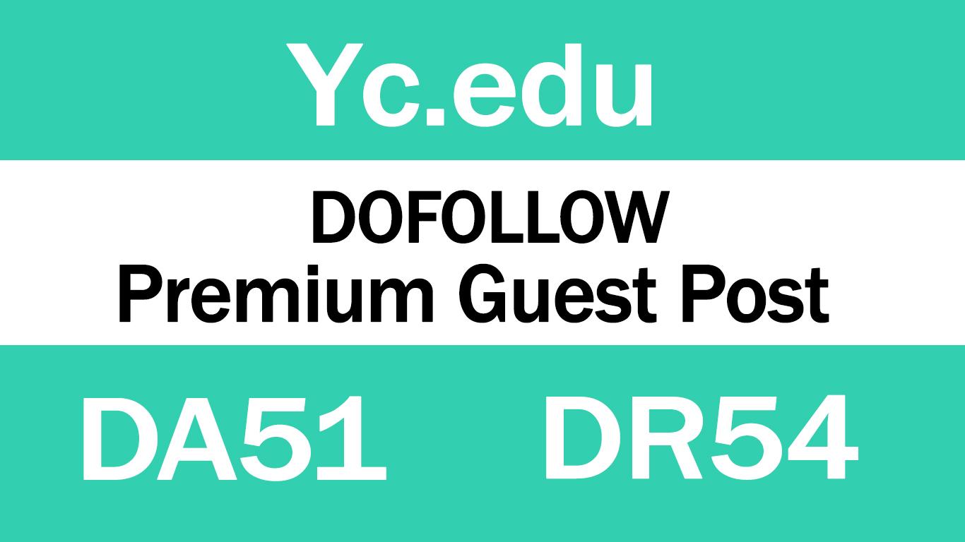 Publish Guest Post on YC. edu - DA51 DR54