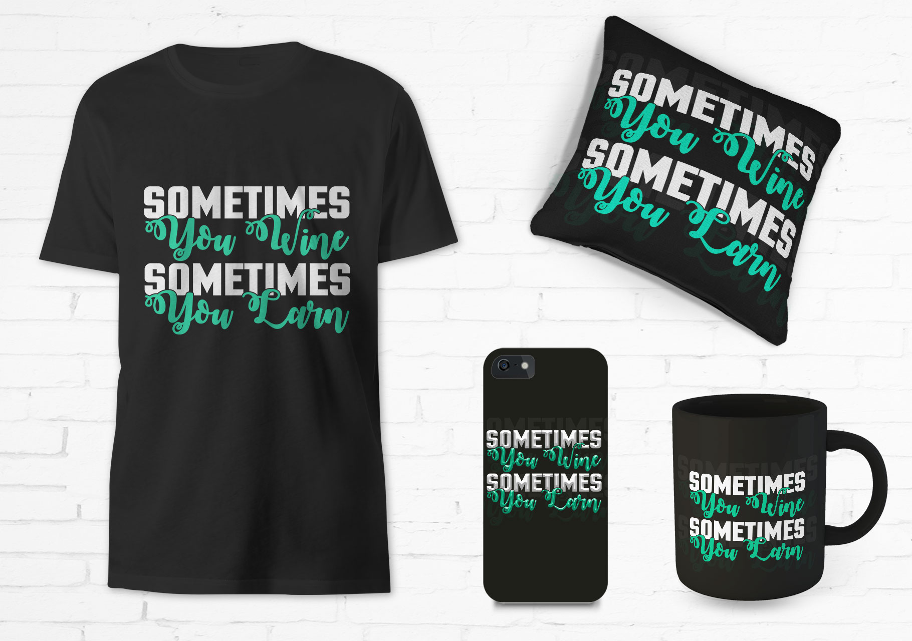 I will create awesome typography T-shirt and mug design for you