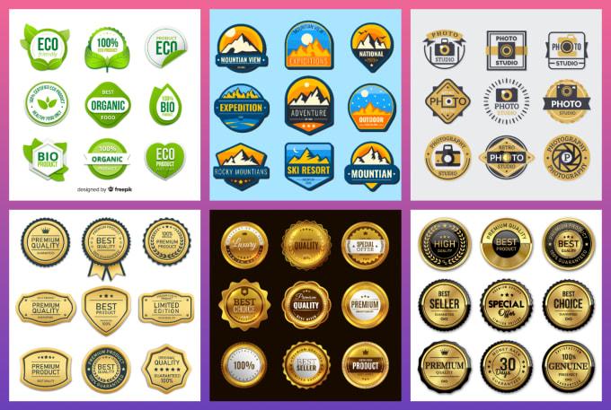 I will design luxury stamp,  seal,  badge,  Circle and round logo