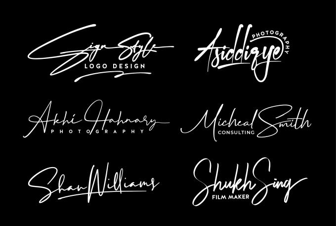 I will design 3 creative signature handwritten logo
