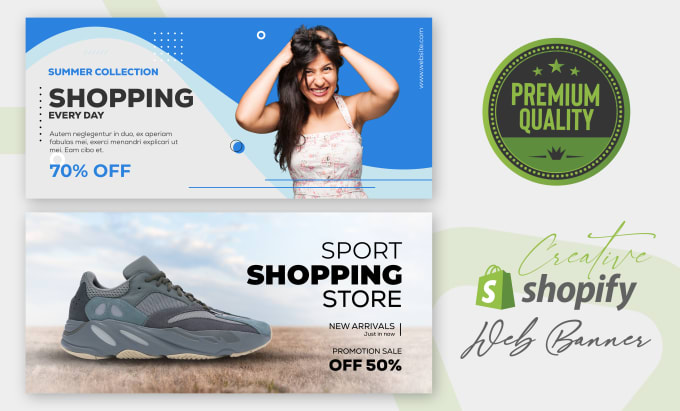 I will design shopify banner, web banner, header, google banner and cover photo