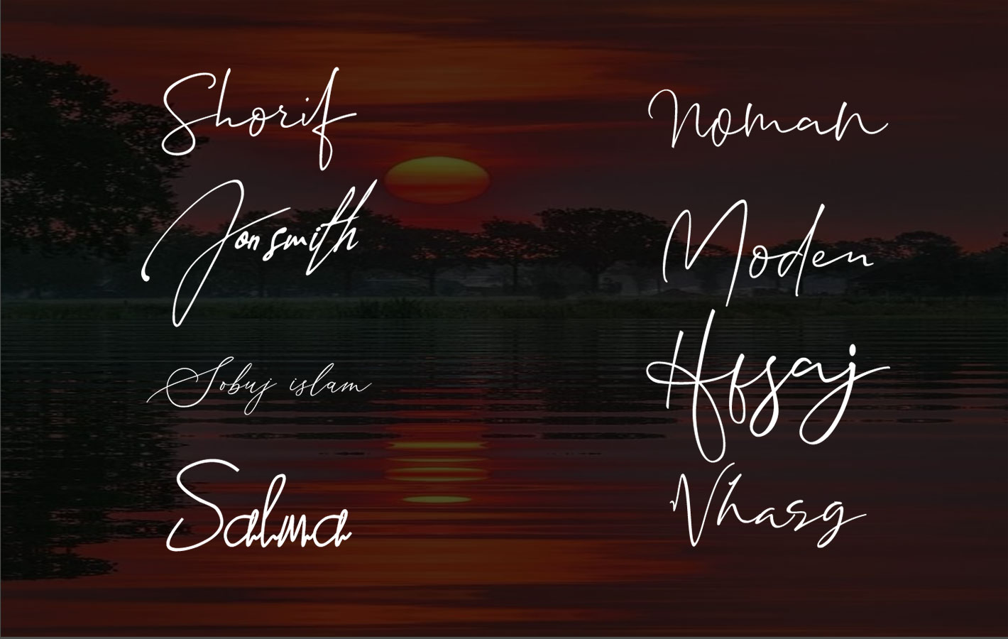 Our Studio will design unique hand drawn signature logo