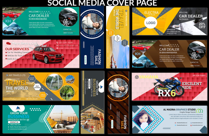 I will design social media posts,  slider,  covers,  headers and banners