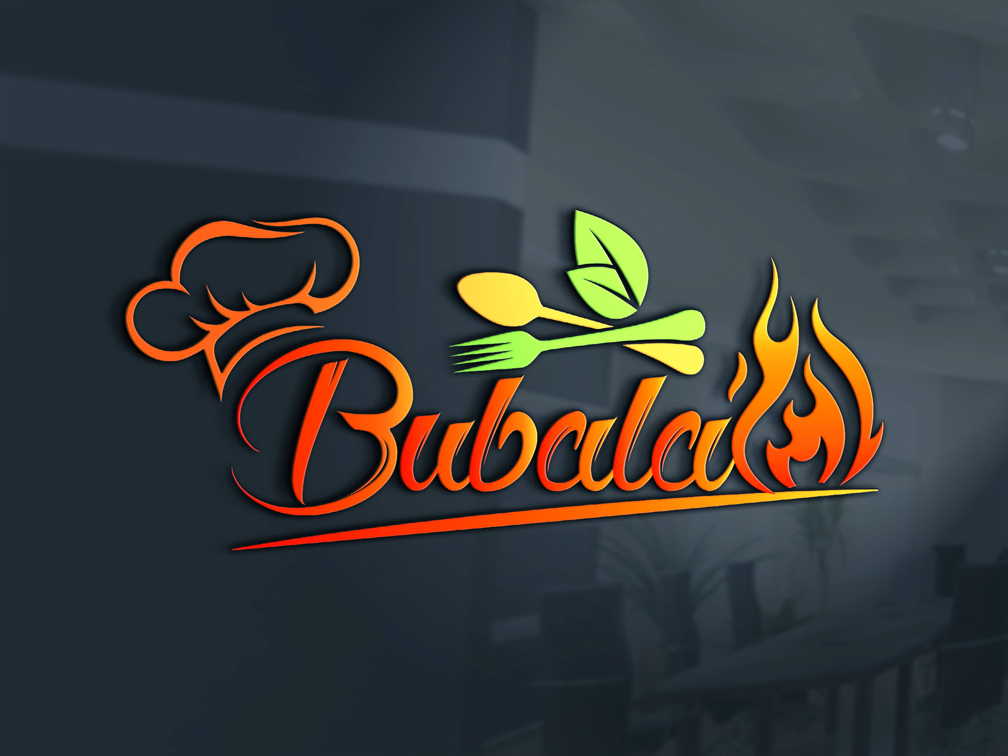 modern restaurant café chef catering fast food BBQ logo 2 HQ Concepts /5 Revisions / HQ JPEG + PNG