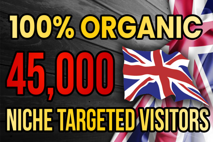 I will drive real UK targeted web traffic 20K VISITORS