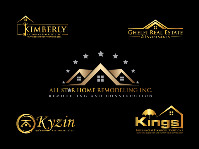 Real estate property construction investment financial logo logo view