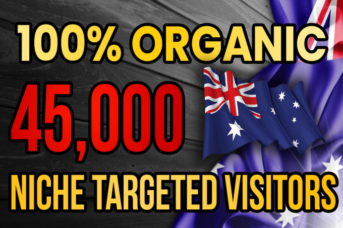 I will drive real Australia targeted web traffic 20K VISITORS