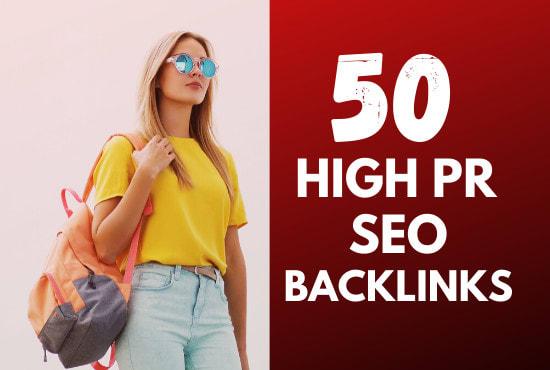 50 high PR dofollow USA seo backlinks link building