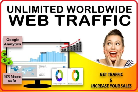 I will drive 60K web traffic to Indian,  Pakistan,  morocco,  USA,  Canada,  Indonesia,  Europe