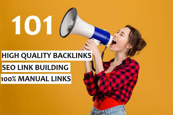 I will do 101 SEO link building backlinks, for google ranking