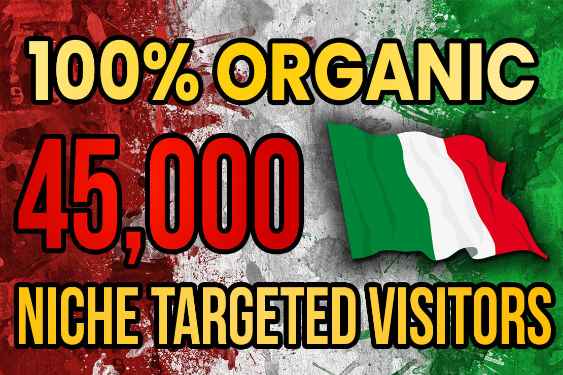 Drive real Italy targeted web traffic 60K visitors