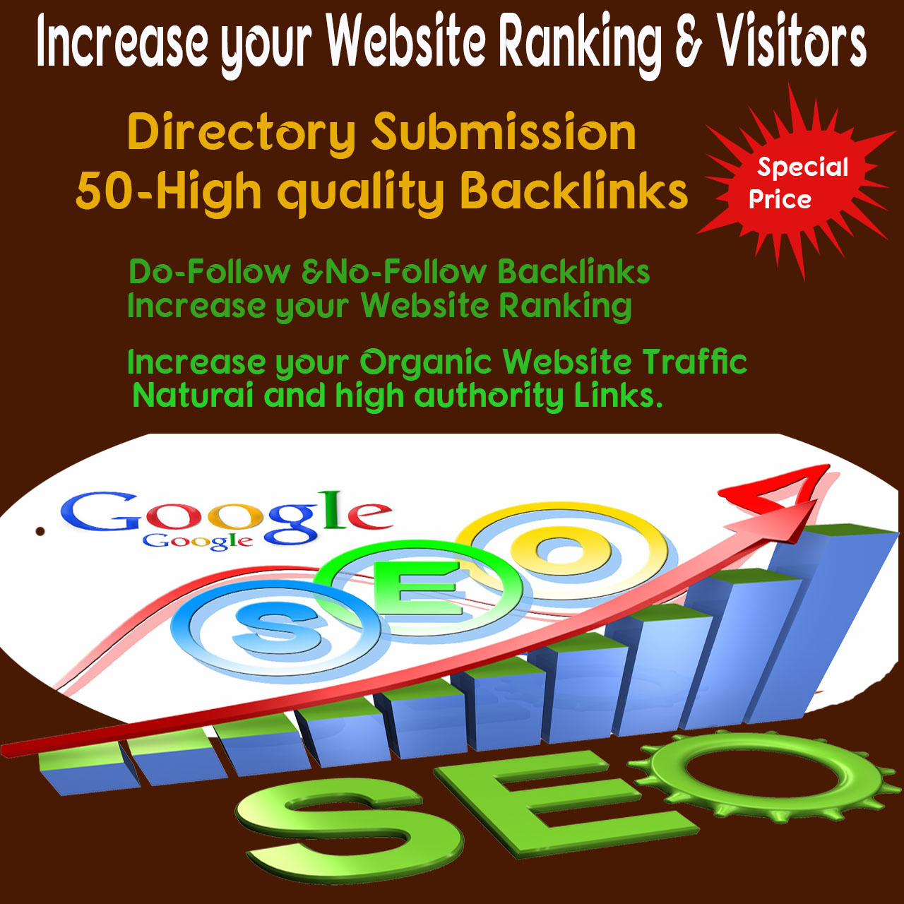I will create 50 high Authority Backlinks for your Website-helps to boost your Ranking and Visitors
