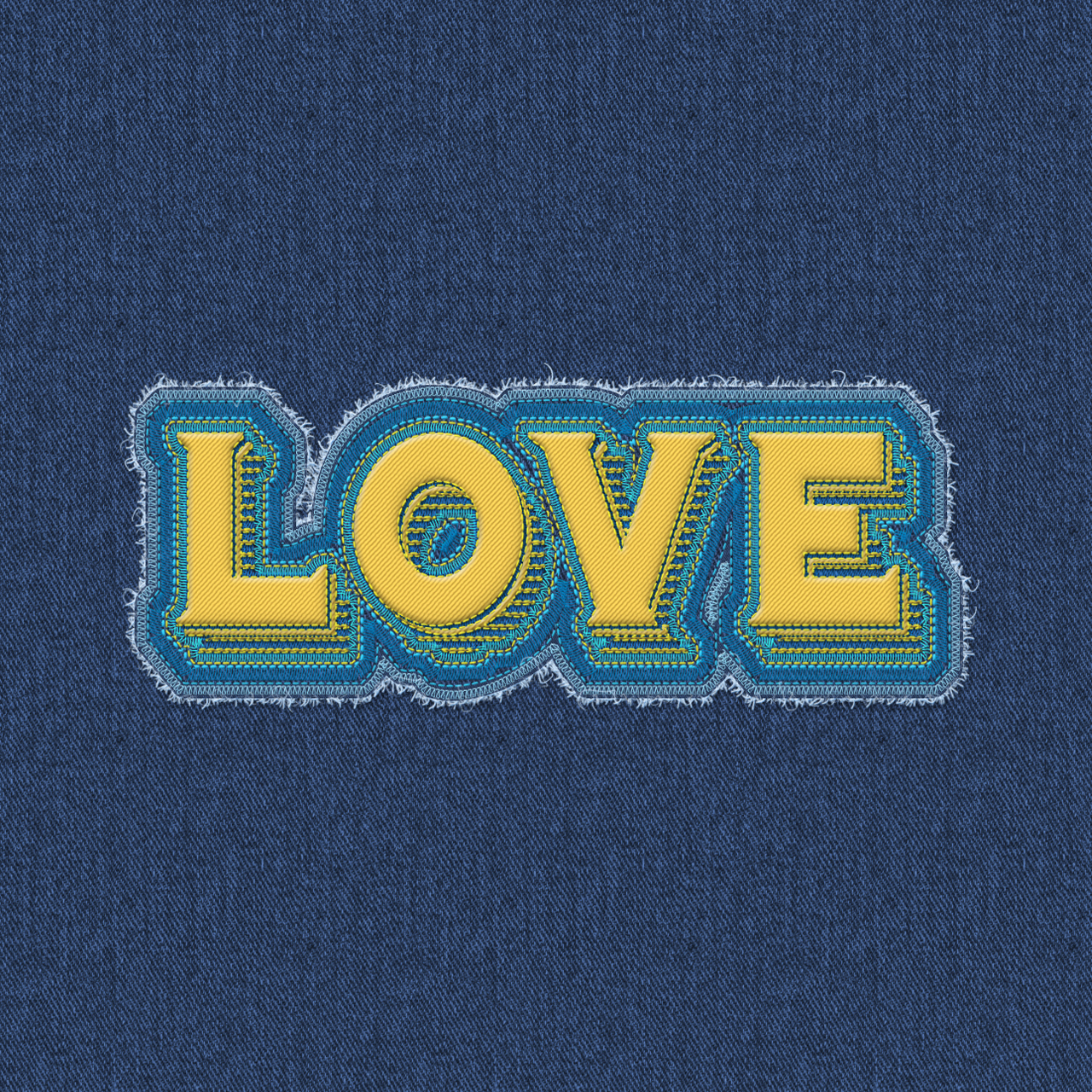 I will convert your any 3 texts into Embroidery jeans sticker