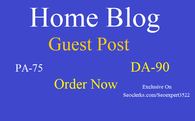 Write & Publish HQ Home blog guest post