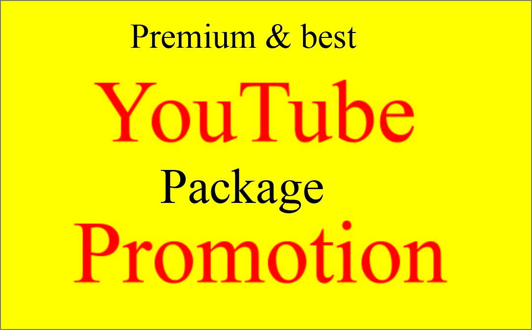 I will do perfectly Premium YouTube video package promotion Fast