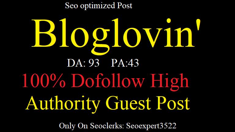 HQ Do Fo allow Guest Post On Bloglovin DA-93 Google index Backlinks