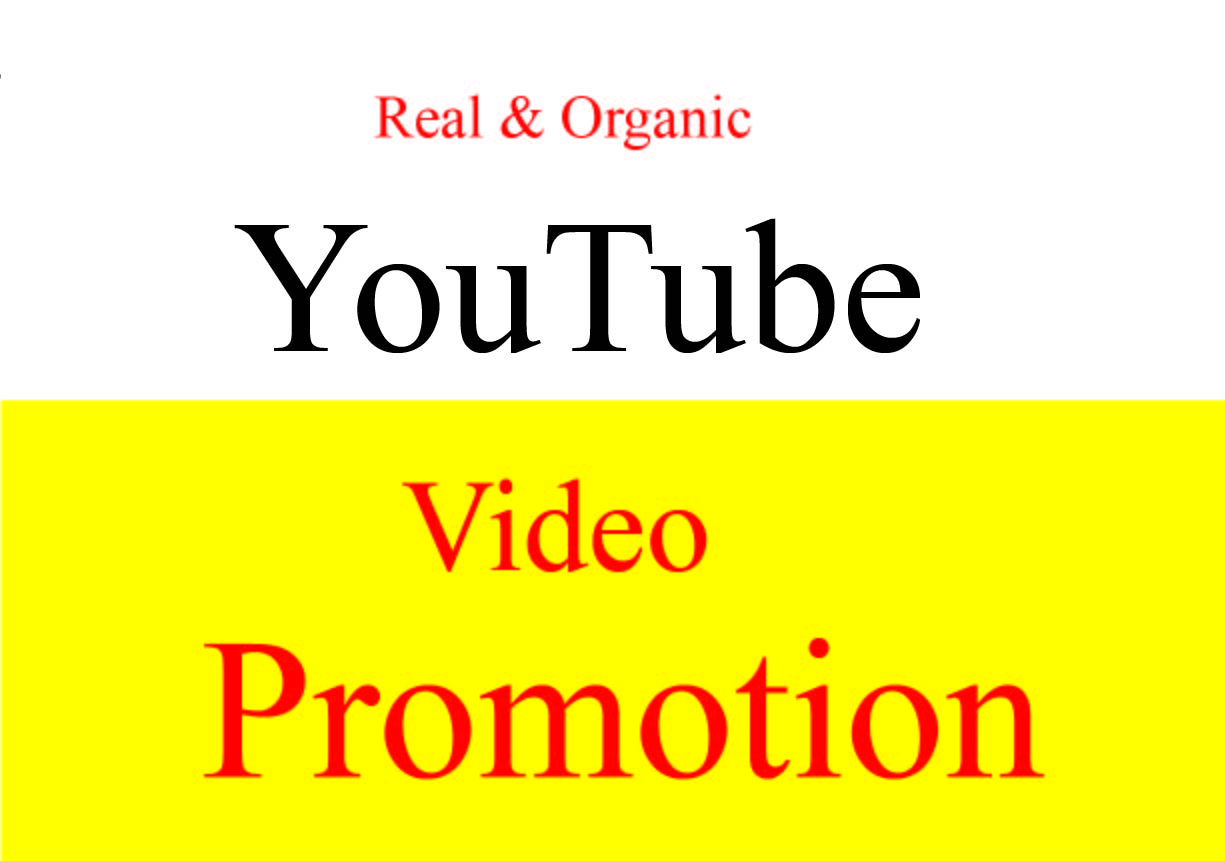 Get Fast Top YouTube video Package promotion & Marketing