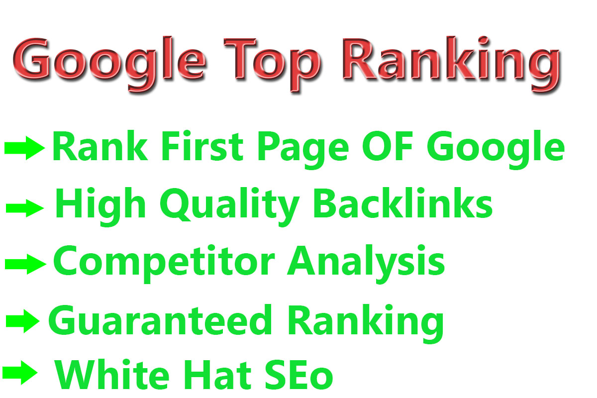 Rank Your Website Google Top ranking First Page Guaranteed
