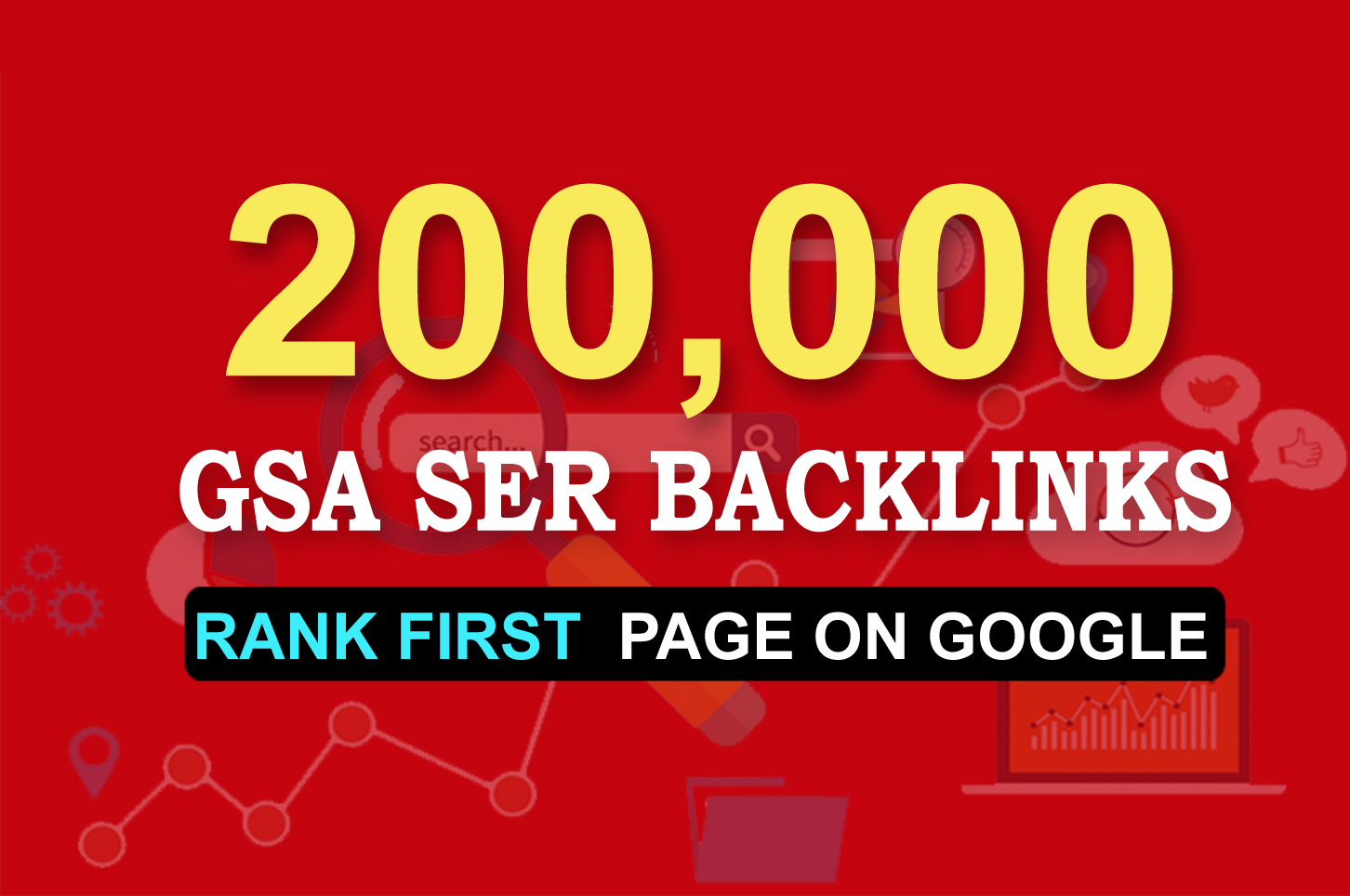 I will create 200k over gsa backlinks for your website