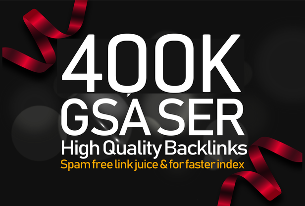 I will creat highly verified backlinks for your website by using GSA SER