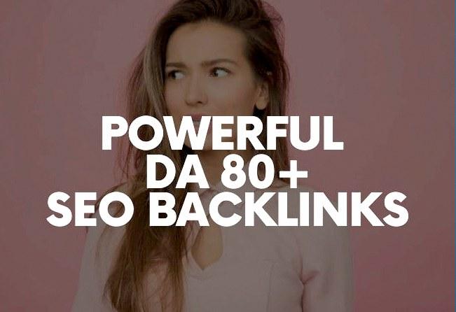 I will Do 40 Powerful high DA80+ SEO Backlinks Manually
