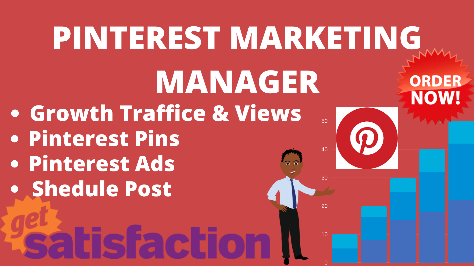 I will be your professional Pinterest marketing manager growth it