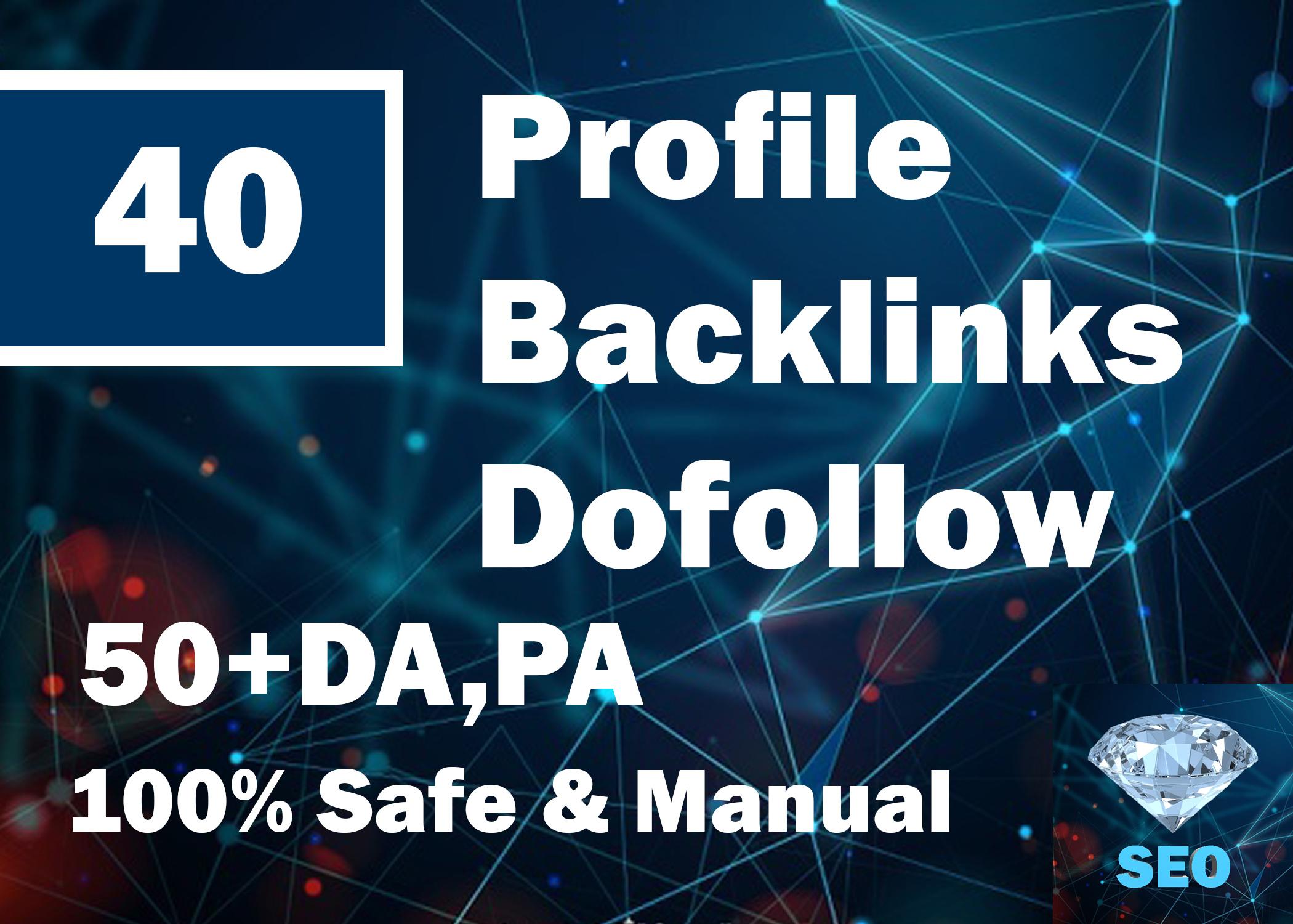 I Will DO 40 High DA, PA Web 2.0 Profile Backlinks Dofollow