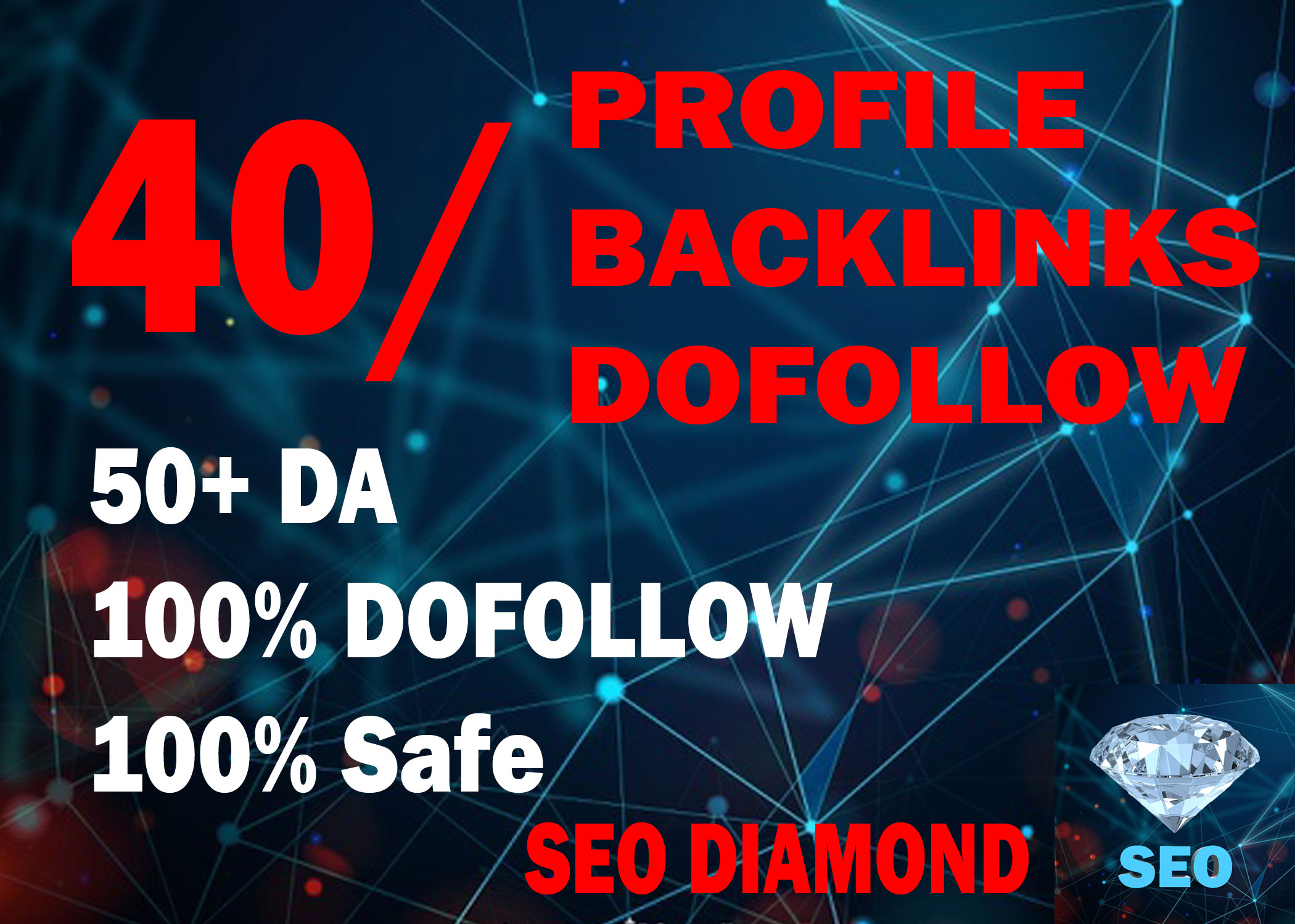 I Will DO 40 High DA, PA Profile Backlinks Dofollow