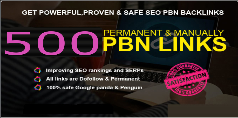 GET 500+ PREMIUM PBN BAcklink with high DA/PA/CF/TF in your webpage with Unique website