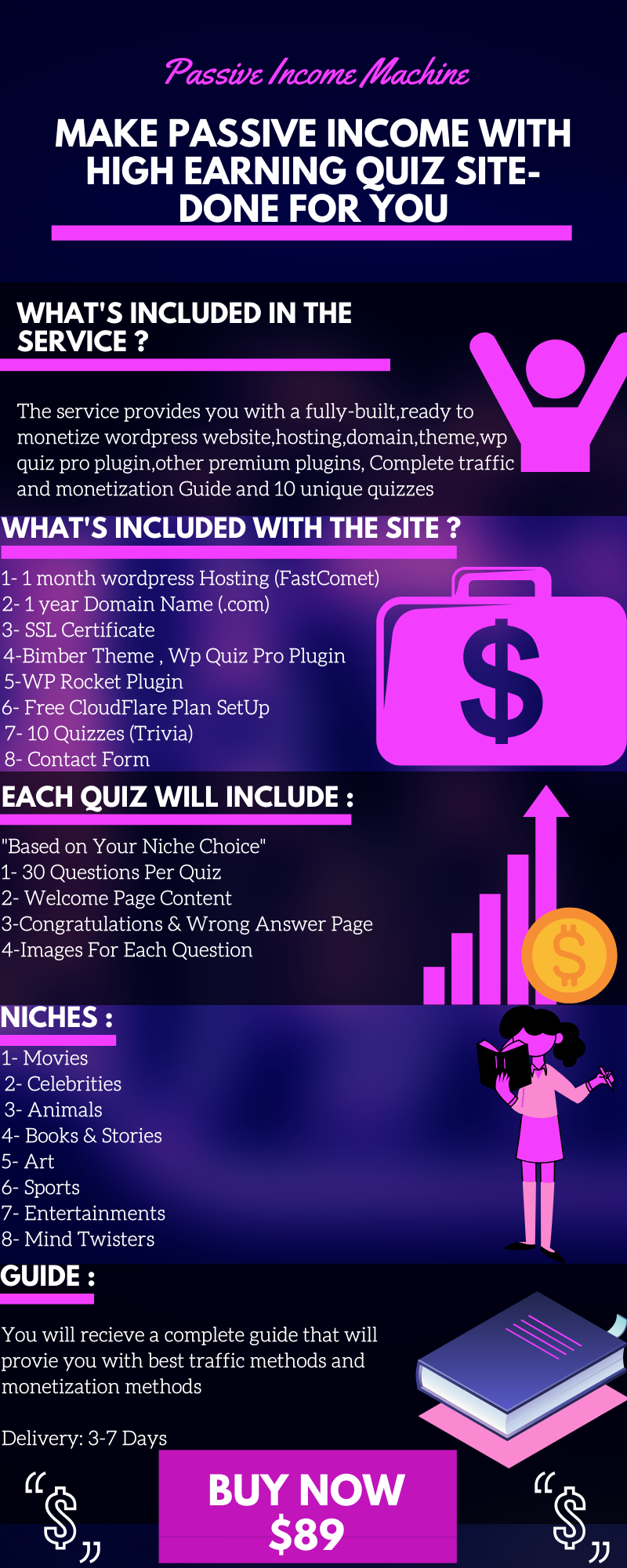 Make Passive Income With High Earning QUIZ Sites + BONUS Monetization Guide