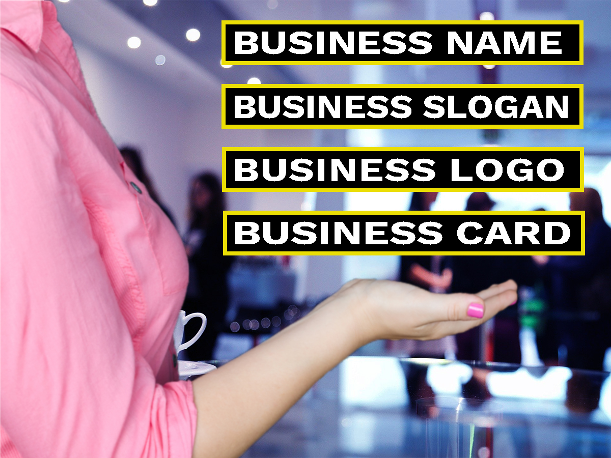 I will create catchy business name,  slogan or logo