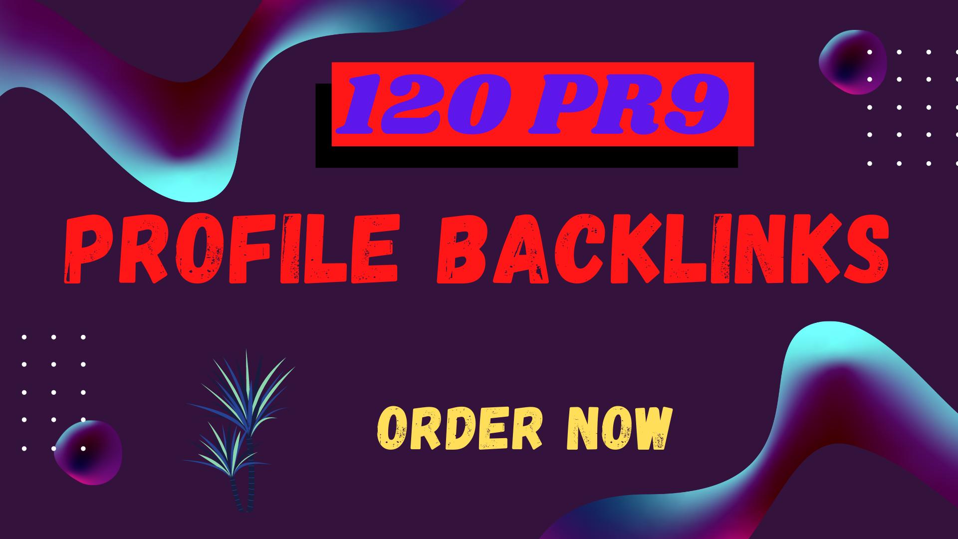 I will Create 120 Pr9 Dofollow profile Backlinks For Best google Rank Your Website