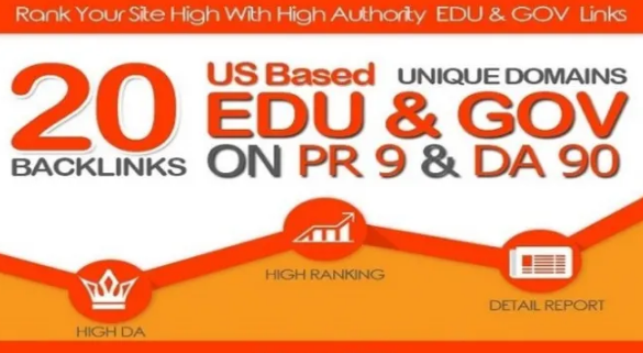 I will give you 20 edu with high trust authority safe SEO link building