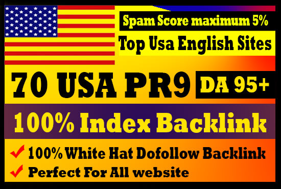 I will create 70 USA pr9 high authority safe SEO backlink