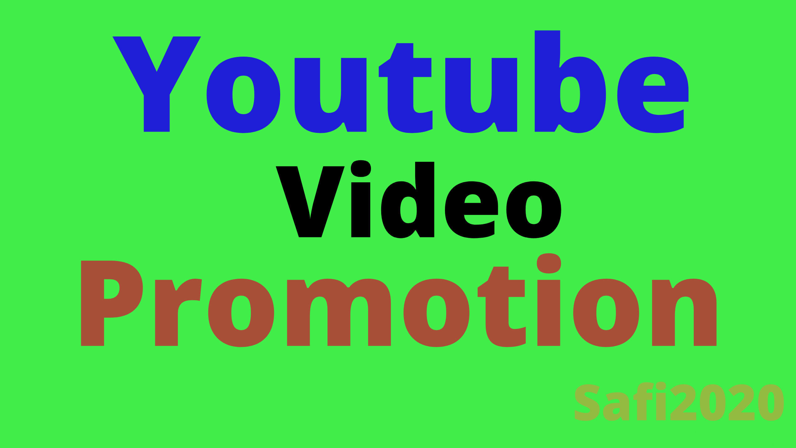 Organic you tube video marketing promotion & via active user