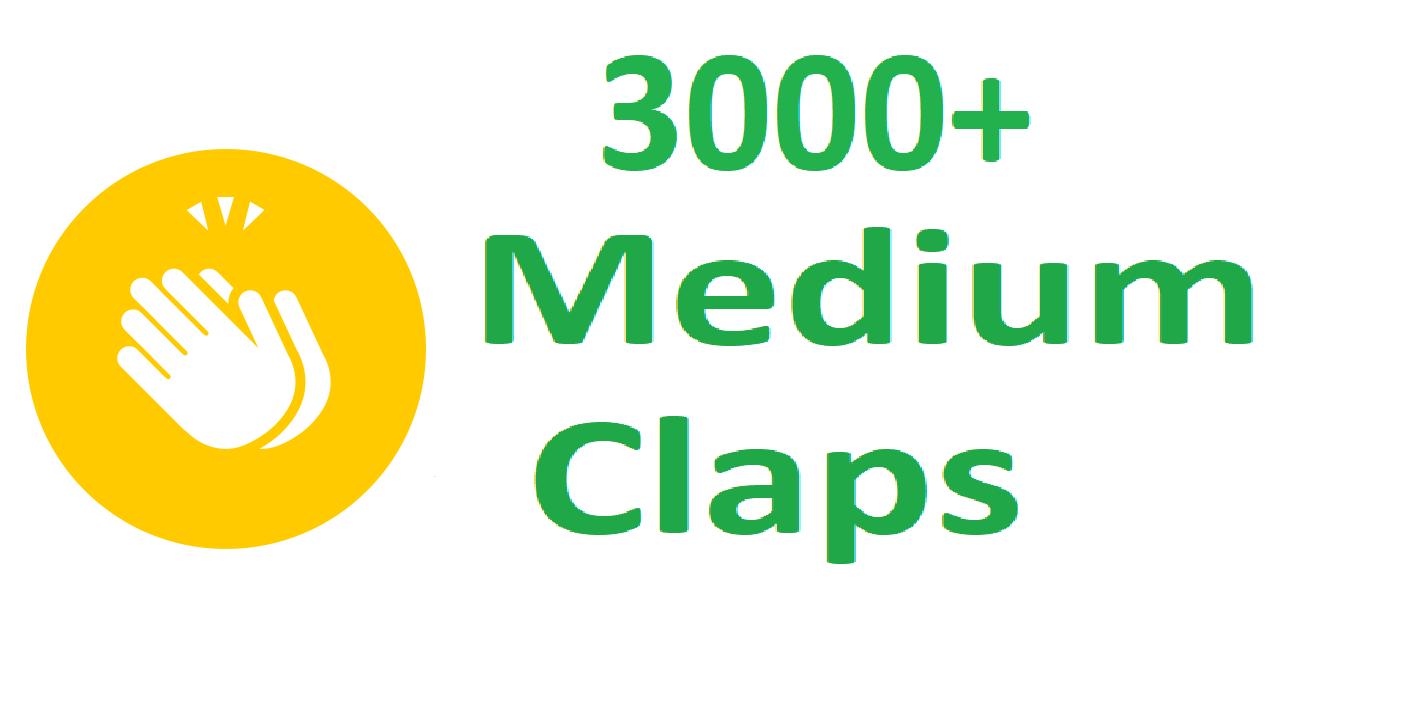 Fast 3000+ Medium Claps Percent Real And Permanent
