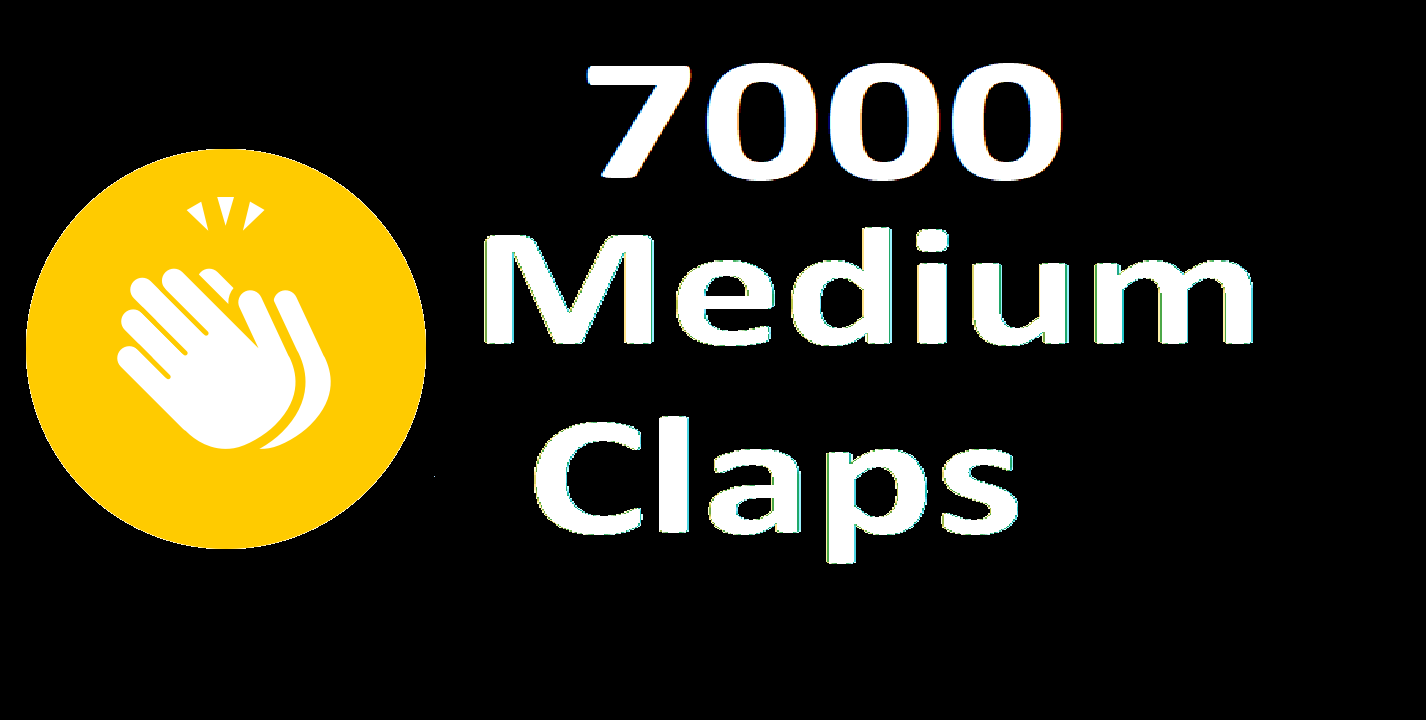 Provide You 7000 Medium Claps Percent Real And Permanent