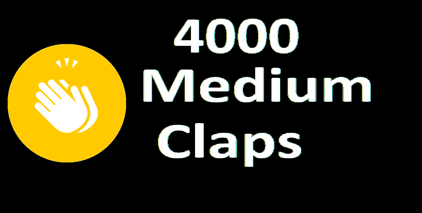 Give you 4000 Medium Claps Percent Real And Permanent