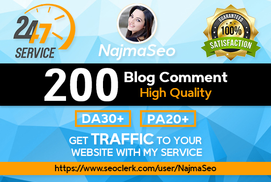 i will do High Quality 200 Dofollow blog comments Backlinks
