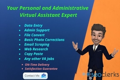 Personal and Administrative Virtual assistant expert for any kind of VA work