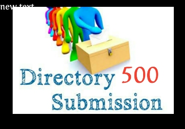 I will submit 500 Directory Submissions within 24 hours