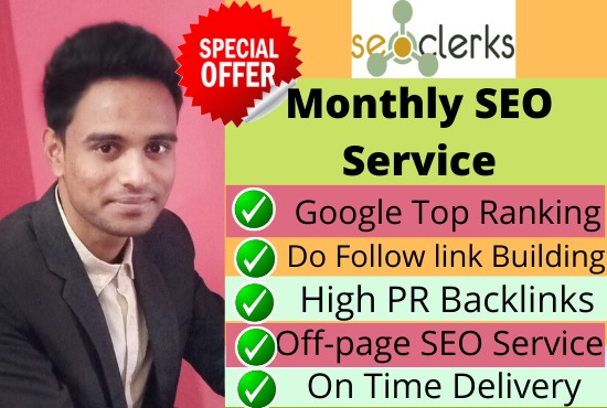 I will do google top ten ranking your website,  with white hat SEo service.