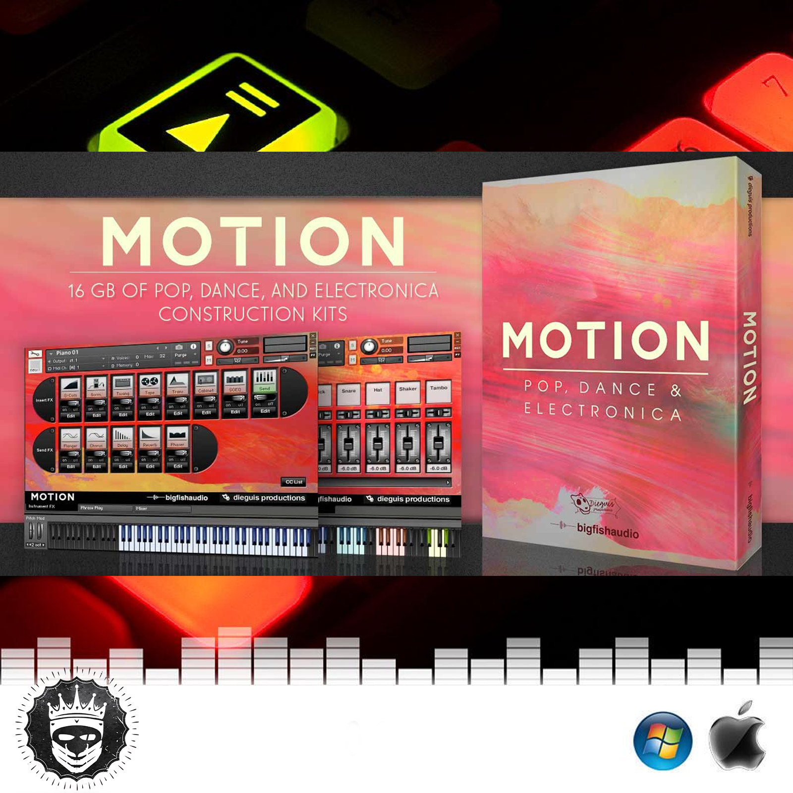 Big Fish Audio Dieguis Productions Motion KONTAKT