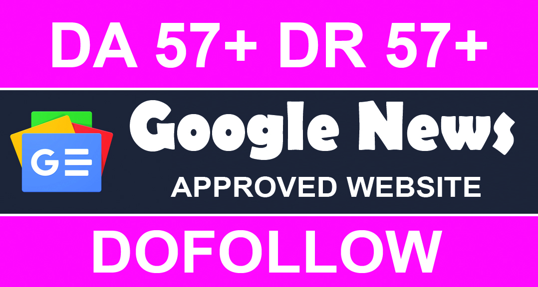 Write and publish guest post on google news approved website