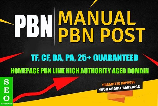 Create 1 HIGH DR 50 Plus Homepage PBN Backlinks