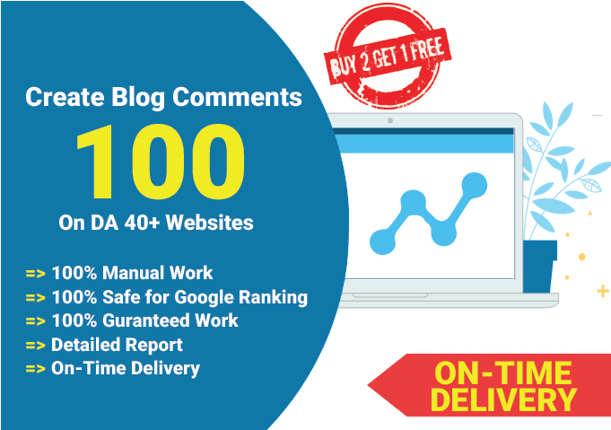 I will create 100 blog Comments on DA 40+ websites